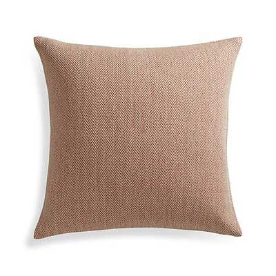 Mylo Pillow - 20x20, Orange, Feather Insert - Crate and Barrel