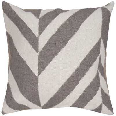 "Slanted Stripe Throw Pillow - 18"" H x 18"" W x 4"" D - Polyester insert - Wayfair"