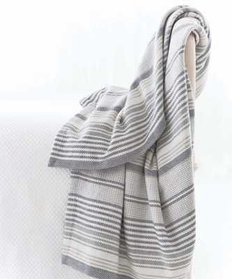 Gradation Ticking Woven Cotton Throw - Bliss Home and Design