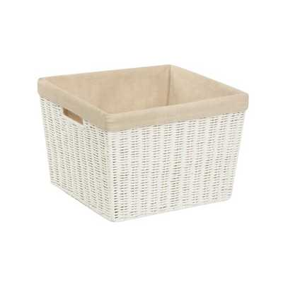 "Wicker Basket 8"" H x 12"" W x 10"" D - Wayfair"