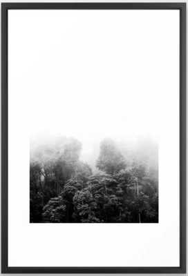 Misty Jungle Forest Black and White Landscape Photography Framed Art Print - Society6