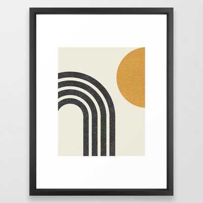 Mid century modern Sun & Rainbow Framed Art Print - Society6