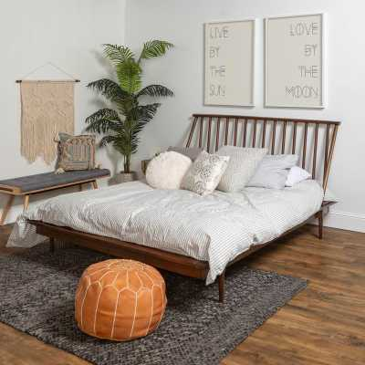 Dorinda Spindle Queen Platform Bed - Wayfair