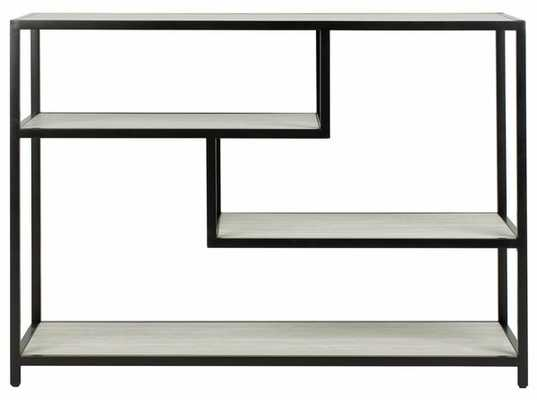 Reese Geometric Console Table - Beige/Black - Arlo Home - Arlo Home