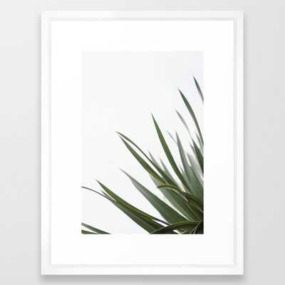 """Wall Art - Olive Spines - Framed Print Vector White - 20"""" X 26"""" - Society6"""