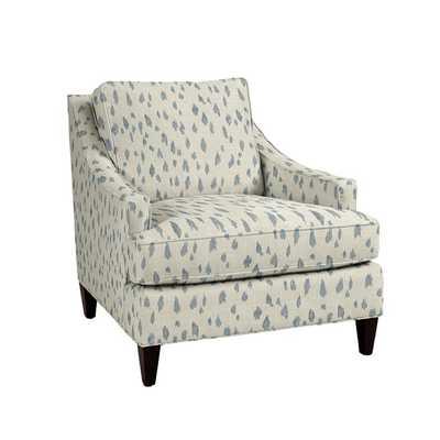 Cameron Upholstered Chair - Cleo Glacier - Ballard Designs