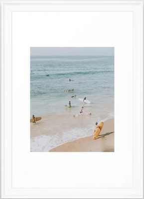 lets surf iii framed 15x21 - Society6