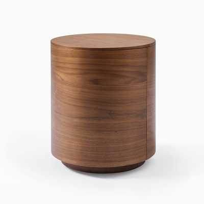 Volume Side Table - Wood, Walnut - West Elm