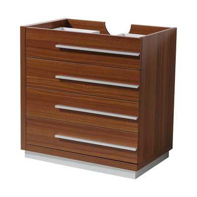 Fresca Livello 30 in. Bathroom Vanity Cabinet Only in Teak - Home Depot
