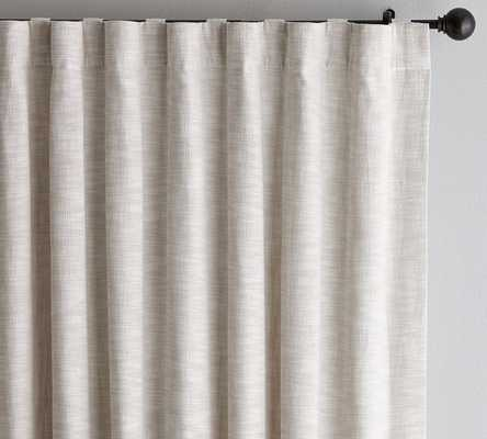 "SEATON TEXTURED CURTAIN - Neutral - 50""x96""W - Pottery Barn"