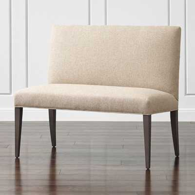 """Miles 42"""" Upholstered Small Dining Banquette Bench - Crate and Barrel"""