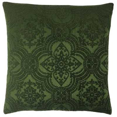 "Lilith Forest Damask Throw Pillow - 18"" x 18"" - Linen & Seam"