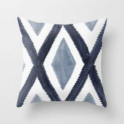 Del Rio Watercolor in Blue Throw Pillow - Society6