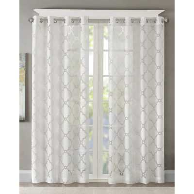 "Breckenridge Geometric Sheer Grommet Single Curtain Panel - 95"" - Wayfair"