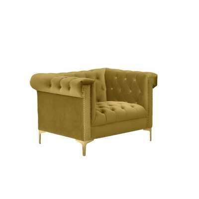 Batts Armchair, Golden Mustard - Wayfair