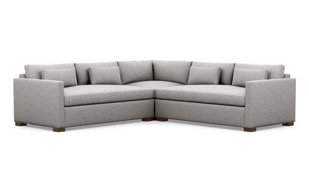 CHARLY Corner Sectional Sofa - Earth Cross Weave - Interior Define