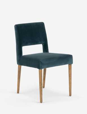 Ninette Dining Chair, Turquoise - Lulu and Georgia