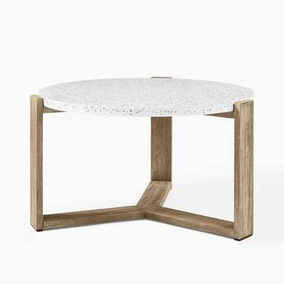 Mosaic Coffee Table - White Marble Top + Driftwood - West Elm