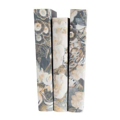 GOLD & SILVER FLOWER BOOKS (SET OF 3) - McGee & Co.