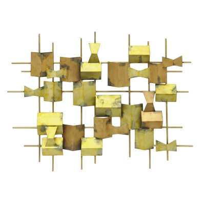 Geometric Metal Wall Decor - Wayfair