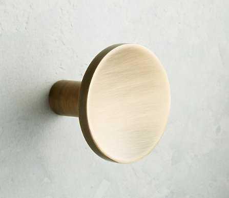 Circle Antique Brass Knob - CB2