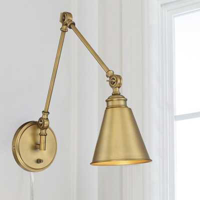 ADJUSTABLE ARM CONE WALL SCONCE - Shades of Light