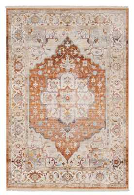 Mendelsohn Vintage Persian Traditional Orange/Beige Area Rug - Wayfair