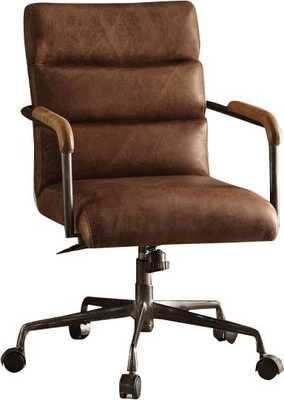 Sophia Genuine Leather Chair / Retro Brown - Wayfair