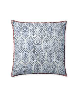 """Jamesport 20"""" SQ Pillow Cover - Navy - Insert sold separately - Serena and Lily"""