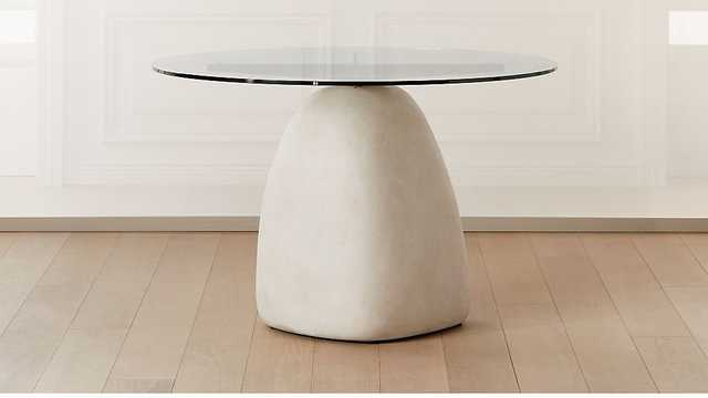 "STONE TABLE ROUND 47"" - CB2"