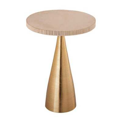 Celeste Ribbed Side Table - Maren Home