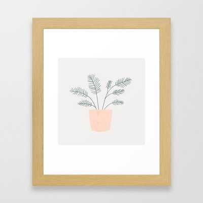 little fern Framed Art Print - Society6