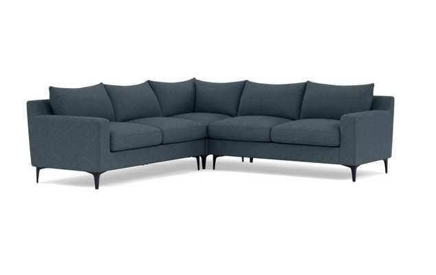 SLOAN Corner 4-Seat Sectional Sofa- Indigo with Black leg - Interior Define