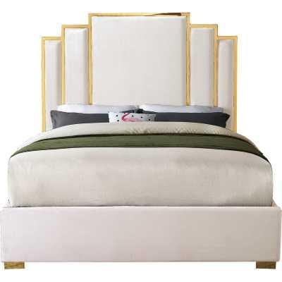 Amaia Velvet Upholstered Platform Bed - Wayfair