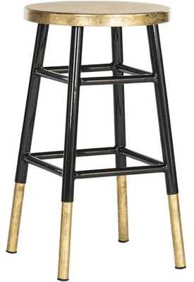 Emery Dipped Bar Stool - Black/Gold - Arlo Home - Arlo Home