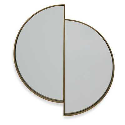 Lunar Reflecting Antique Brass Wall Mirror by Drew Barrymore Flower Home - Hayneedle