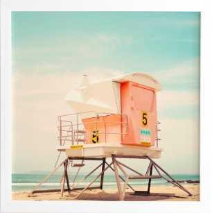 BEACH TOWER 5 Wall Art - Wander Print Co.