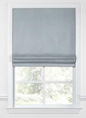 Flat Roman Shade, Black Out, Classic Linen - Dusk - Loom Decor