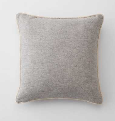 Gray Classic Piped Pillow - Throw - Schoolhouse Electric