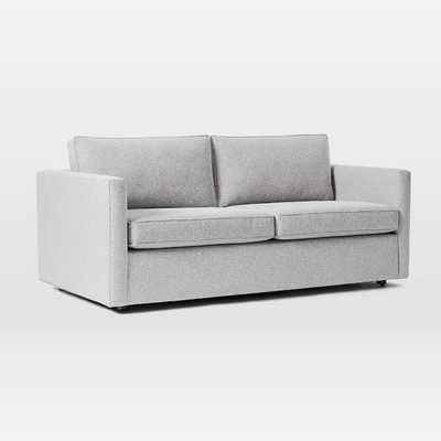 "Harris Queen Sleeper Sofa (74"") Chenille Tweed, Irongate - West Elm"