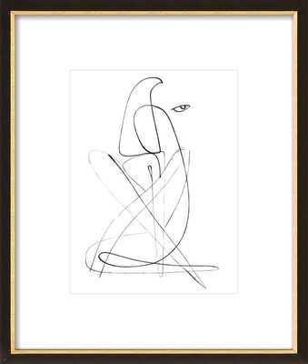 "Ramona  BY SHIRA BARZILAY - ""KOKETIT"" - 11x14 - Black with Gold Wood Frame with Matte - Artfully Walls"