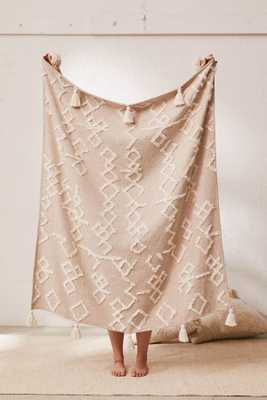 Geo Tufted Tassel Throw Blanket - Urban Outfitters