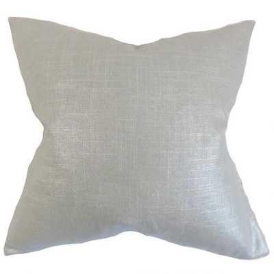 Berquist Solid Pillow Platinum, Euro 26 x 26 - Linen & Seam