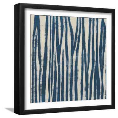 "Indigo Signals VI, Framed Art Print, Final Size: 16""x16"" - art.com"
