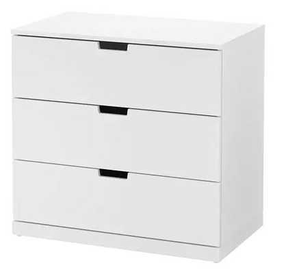 NORDLI 3-drawer chest, white - Ikea