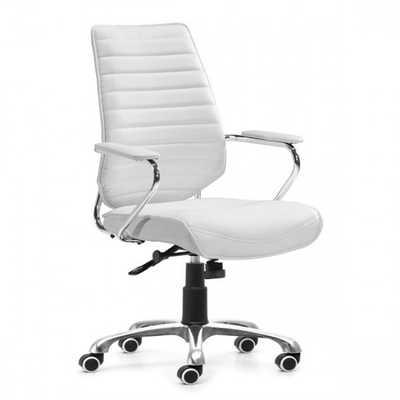 Enterprise Low Back Office Chair White - Zuri Studios