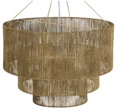 CHAVETTE CHANDELIER, NATURAL - Lulu and Georgia