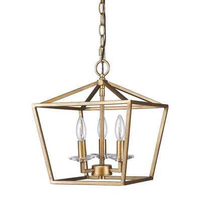 Kennedy 3-light Antique Gold Chandelier - Home Depot