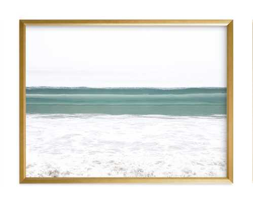 Wave Crest II Art Print - Gold Frame - Minted