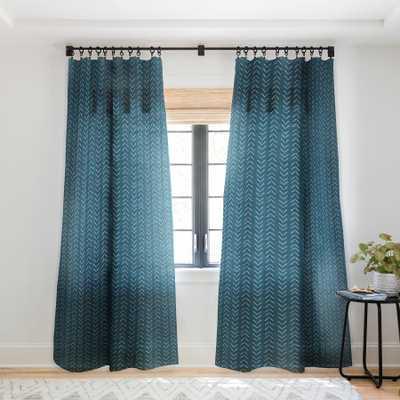 BECKY BAILEY MUD CLOTH BIG ARROWS IN TEAL SHEER WINDOW CURTAIN (set of 2) - Wander Print Co.